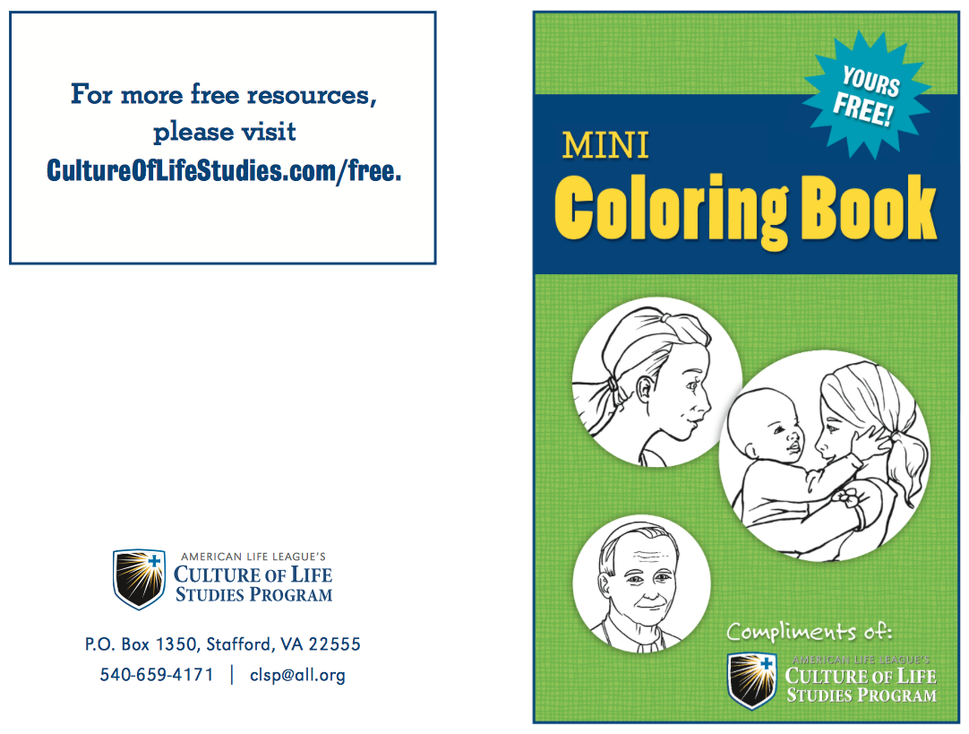 Now Available: Mini Coloring Book Sample | Culture of Life Studies