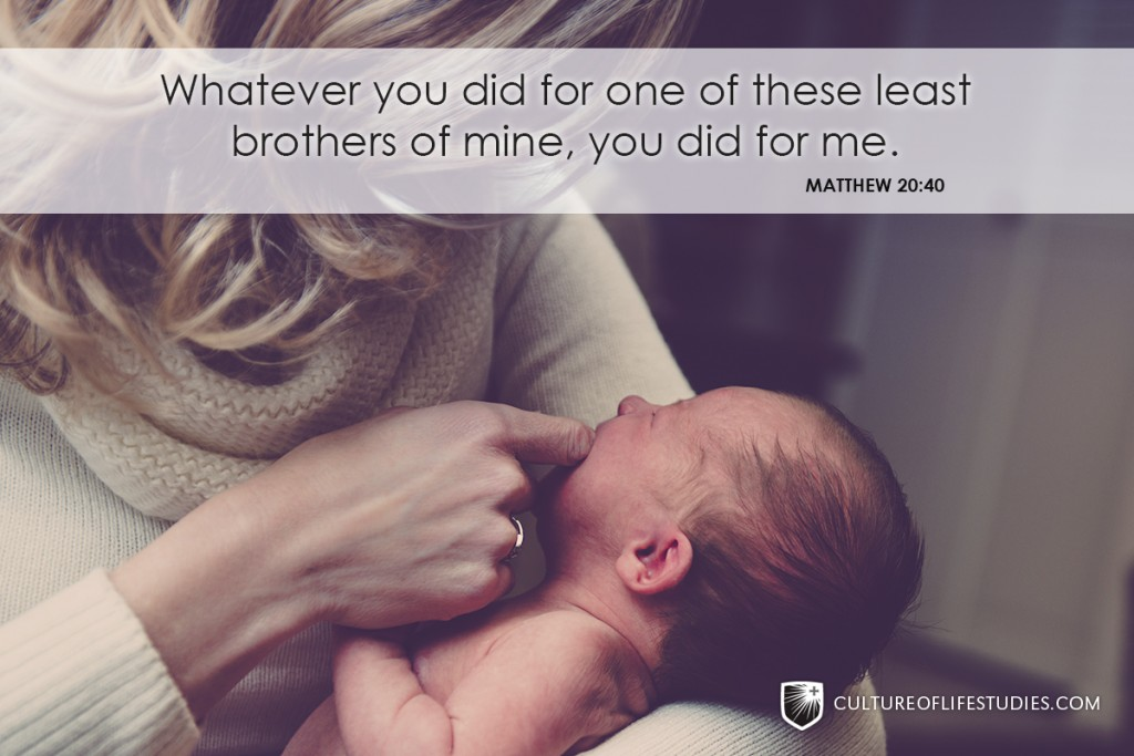 """Whatever You Did For One Of These Least Brothers Of Mine, You Did For Me.""—Matthew 20:40"