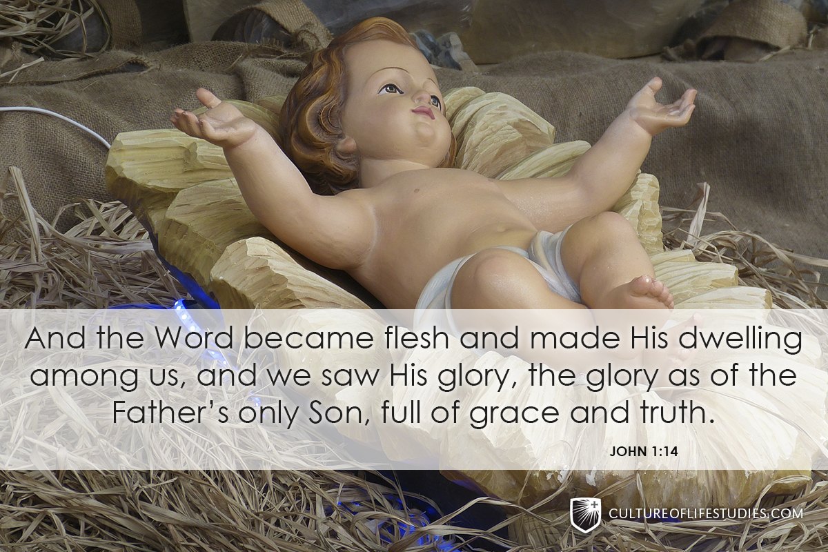 """And the Word became flesh and made His dwelling among us, and we saw His glory, the glory as of the Father's only Son, full of grace and truth."" —John 1:14"