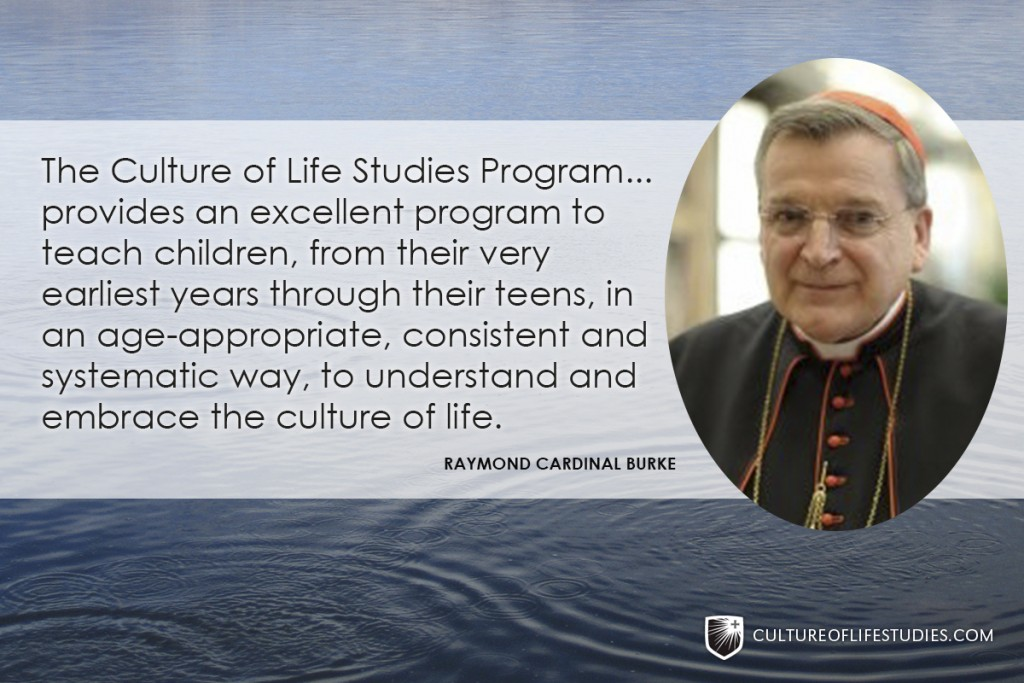 Cardinal Burke Endorses the Culture of Life Studies Program