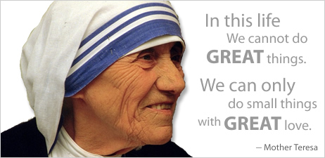 Inspiration from St. Teresa of Calcutta